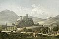 Vue du fort de Lourdes Charles Mercereau vers 1860.jpg