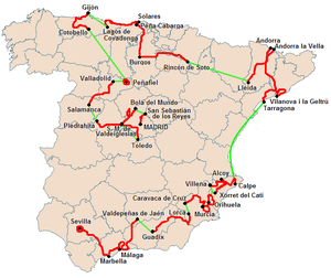 2010 Vuelta a España, Stage 12 to Stage 21 - Overview of the stages