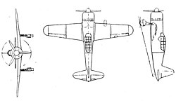 Vultee Vanguard 3-view L'Aerophile May 1940.jpg