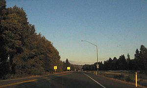 Washington State Route 970 - SR 970 east of its western terminus, a diamond interchange with I-90