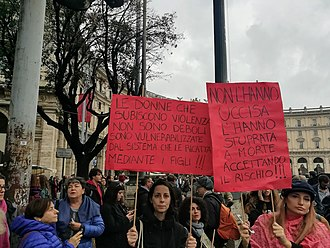 International Day for the Elimination of Violence against Women - Image: WDG March for Elimination of Violence Against Women in Rome (2018) 3