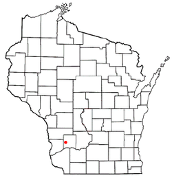 Location of Akan, Wisconsin