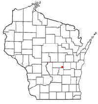 Location of Berlin, Wisconsin