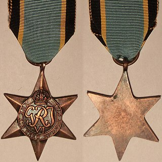 Air Crew Europe Star military campaign medal, instituted by the United Kingdom in May 1945