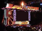 The Raw version of universal WWE entrance set introduced on January 21, 2008 for WWE's high-definition broadcasting debut.