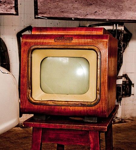 "Old CRT TV set ""Wisła"" (""Vistula"") made in Poland since 1955."