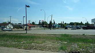 Wainwright, Alberta - An entrance road to Wainwright