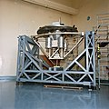 Wake Shield Facility in the Vibration & Acoustics Test Facility before STS-60 (S91-48559).jpg