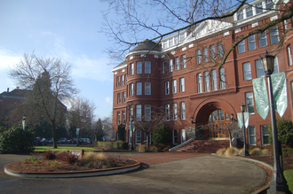 Congregation of Holy Cross - Waldschmidt Hall, formerly West Hall, at the University of Portland.
