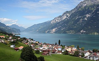 Walensee - Walensee and Unterterzen, Quarten