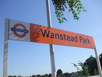 Wanstead Park railway station - Image: Wanstead Park stn signage
