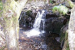 Waterfall near Klondyke Lead Mine Ruins - geograph.org.uk - 223638.jpg