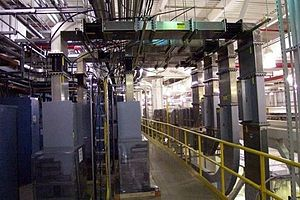 Waveguide - Waveguide supplying power for the Argonne National Laboratory Advanced Photon Source.