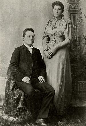 Gaskell Romney - Wedding photo, 1895