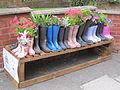 Wellington boots in Wellington Road, Oxton.JPG