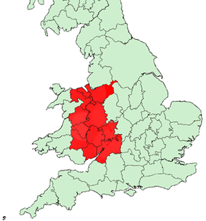 Welsh Marches - Image: Welsh Marches Map