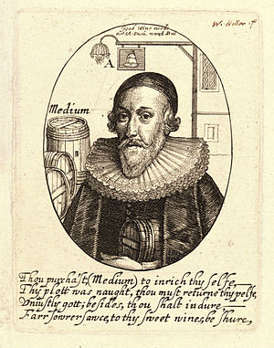 William Abell - Alderman Abel on etching by Wenceslaus Hollar
