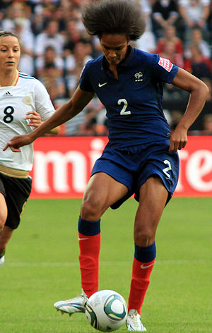 Wendie Renard - Renard playing against Germany in 2011