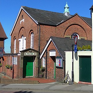 West Street Baptist Church, East Grinstead - The side elevation of the chapel