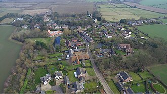 Westley, Suffolk - Image: Westley from the sky