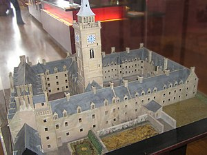 University of Glasgow - A model of the old High Street Building, in the Hunterian Museum.