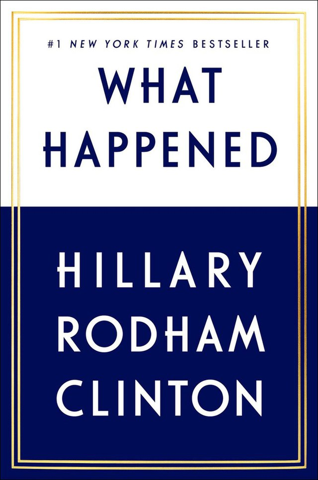 What Happened (Hillary Rodham Clinton) book cover, From WikimediaPhotos