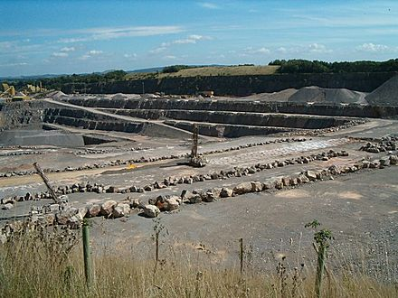 Stone quarries are still a major employer in Somerset Whatleyquarry.jpg