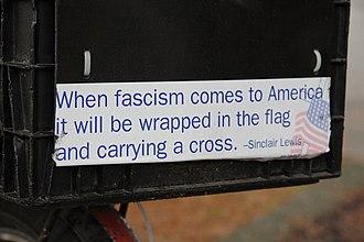Bumper sticker - Image: When fascism comes to America