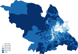 Demography of Sheffield - Image: White Sheffield 2011 census