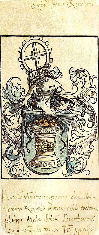 Johann Reuchlin - Johann Reuchlin's coat of arms