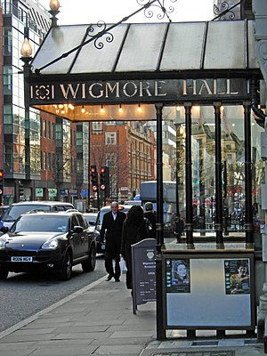 English: Wigmore Hall This hall, with its dist...