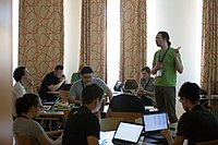 Wikimedia Hackathon Vienna 2017-05-19 Hacking Gurkerl 013.jpg