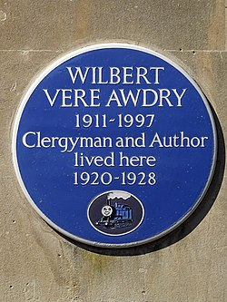 Photo of Wilbert Vere Awdry blue plaque