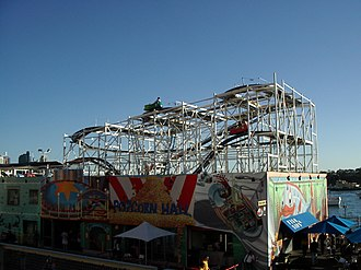 Wild Mouse roller coaster - The Wild Mouse, a Wild Mouse roller coaster in operation at Luna Park Sydney