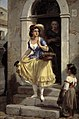 Wilhelm Marstrand - An Italian Woman in the Way to the Carnival - KMS3807 - Statens Museum for Kunst.jpg