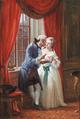 Wilhelm Marstrand - Interiør med kronprinseparret - 1868.png