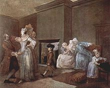 Il corsetto, di William Hogarth, 1744 circa