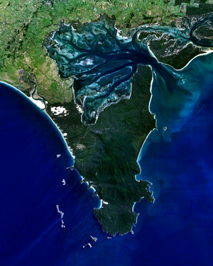 South Point (Wilsons Promontory) - Wilsons Promontory with South Point at bottom