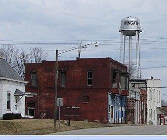 Wingate, Indiana - Image: Wingate tower