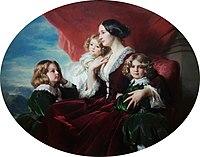 Winterhalter Eliza Krasińska with children 02.jpg