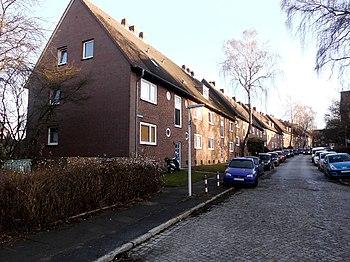 Blick von der Hertzstraße aus nach Osten