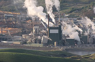 Lewiston, Idaho - Clearwater Paper's large wood pulp mill, Lewiston, 2010