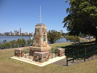 Hamilton, Queensland - World War 1 memorial, Hamilton, 2013
