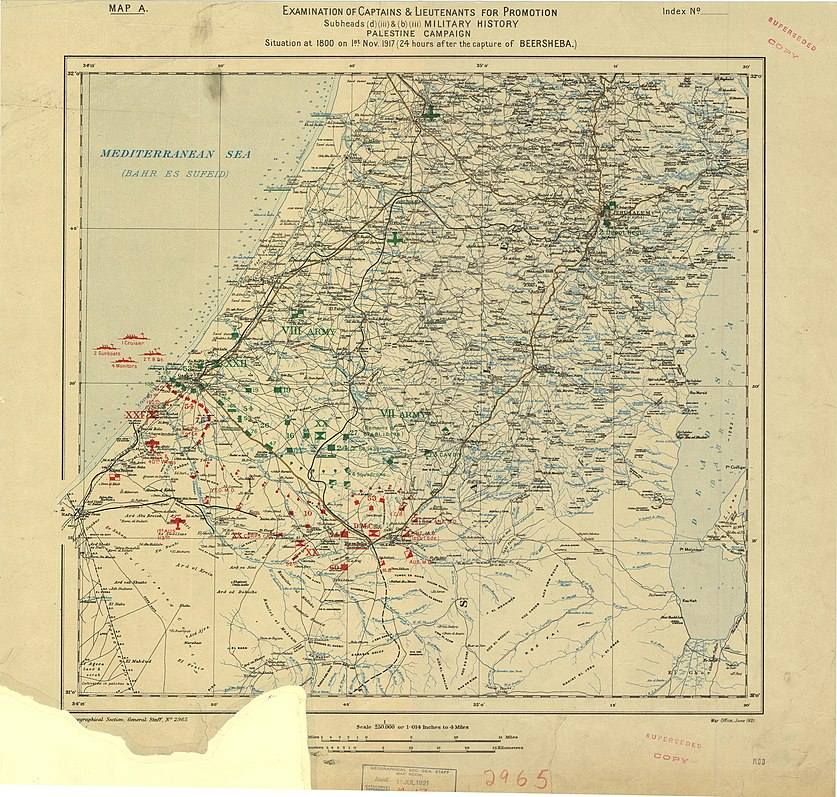 World War I Palestine campaign, Military situation immediately prior to the release of the Balfour Declaration