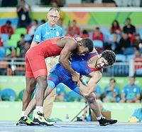 Wrestling at the 2016 Summer Olympics, Asgarov vs Chamizo 4.jpg