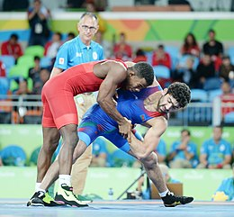 Wrestling at the 2016 Summer Olympics, Asgarov vs Chamizo 4.jpg