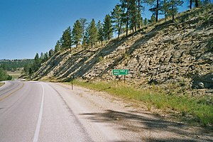 U.S. Route 14 in Wyoming - US 14 north towards Devils Tower