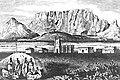 Xhosa chiefs imprisoned at Robben Island in the 19th century. Ernst Wangermann engraving, 1868.jpg