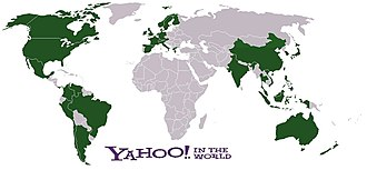 Yahoo! - Map showing localized versions of Yahoo! web portals, as of 2008