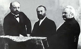 "Alternating current - The Hungarian ""ZBD"" Team (Károly Zipernowsky, Ottó Bláthy, Miksa Déri), inventors of the first high efficiency, closed-core shunt connection transformer"